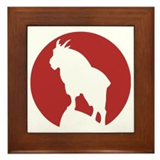 Great Northern Goat Red Framed Tile