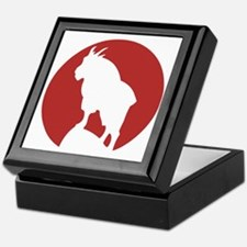 Great Northern Goat Red Keepsake Box