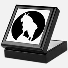 Great Northern Goat Black Keepsake Box