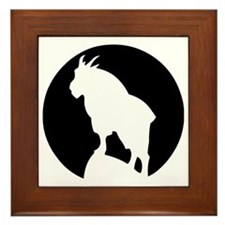 Great Northern Goat Black Framed Tile