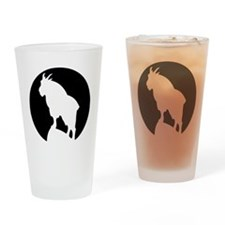 Great Northern Goat Black Drinking Glass