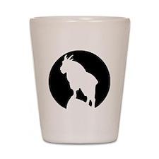 Great Northern Goat Black Shot Glass