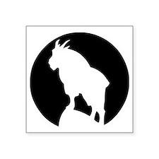 "Great Northern Goat Black Square Sticker 3"" x 3"""