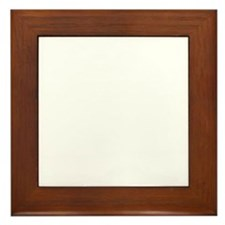 Great Northern Goat White Framed Tile