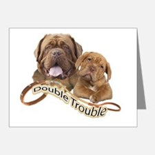 Dogue De Bordeaux Double Tro Note Cards (Pk of 20)
