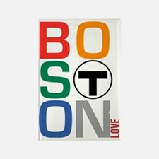 Boston Multi T Rectangle Magnet