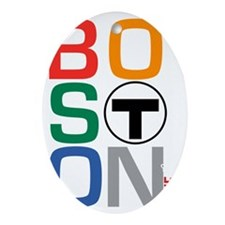 Boston Multi T Oval Ornament