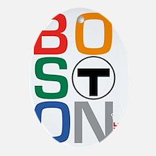 Boston Multi T Oval Ornament