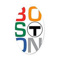 Boston Multi T Oval Car Magnet