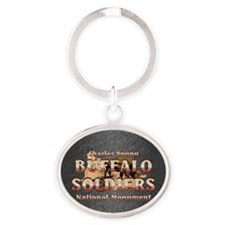 buffsoldiersnmsq Oval Keychain