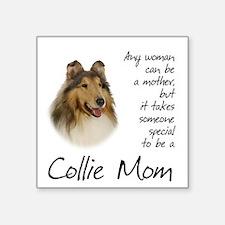 "Collie Mom Square Sticker 3"" x 3"""