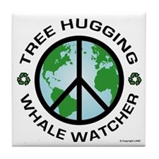 Tree Hugging, Whale Watcher Tile Coaster