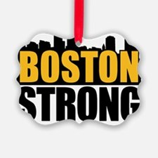 Boston Strong Gold Black Ornament