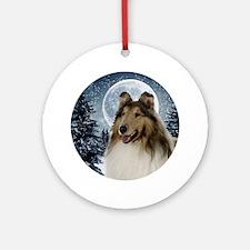 Collie Round Ornament