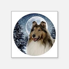 """Collie Square Sticker 3"""" x 3"""""""