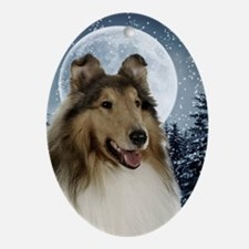 Collie Oval Ornament
