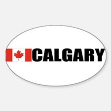 Calgary, Alberta Oval Decal