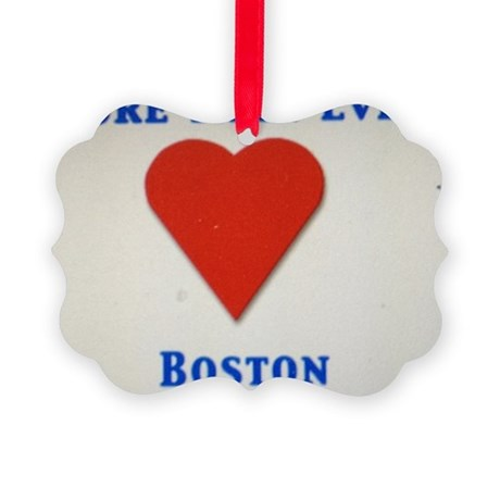Support our wonderful town, Bosto Picture Ornament