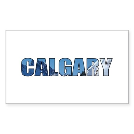 Calgary, Alberta Rectangle Sticker