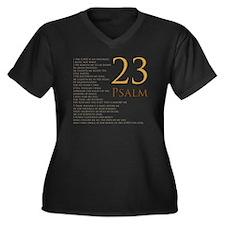 PSA 23 Women's Plus Size Dark V-Neck T-Shirt