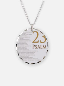 PSA 23 Necklace Circle Charm