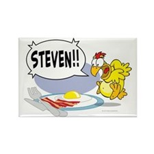 Steven the Egg Rectangle Magnet