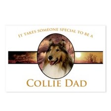 Collie Dad Postcards (Package of 8)
