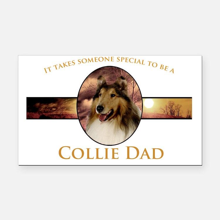Collie Dad Rectangle Car Magnet