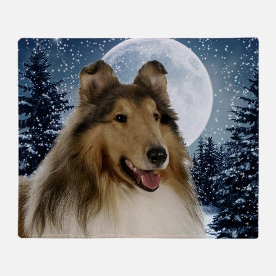 Collie Throw Blanket