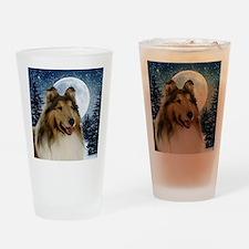 Collie Drinking Glass