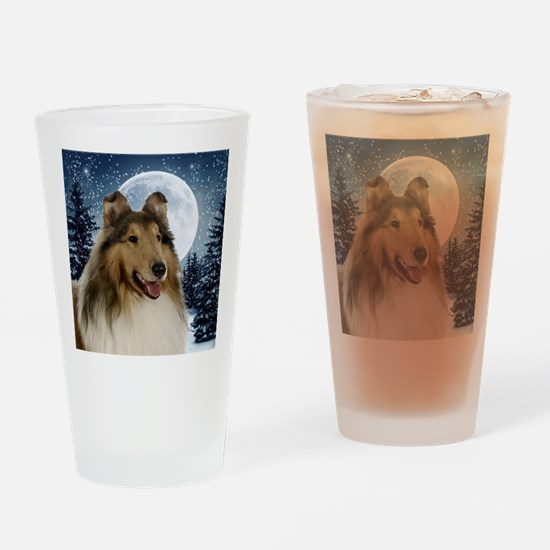Collie Drinking Glass