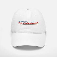 Stylized Chrome SKY Redline Baseball Baseball Cap