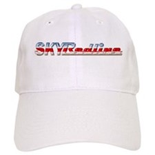 Stylized Chrome SKY Redline Baseball Cap