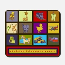 Baby Boy ABC Animal Toy Blocks Mousepad