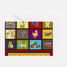 Baby Boy ABC Animal Toy Blocks Greeting Card