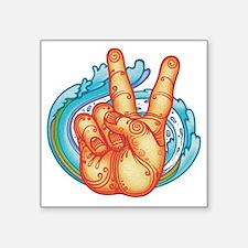 """peacehand-pmax-T Square Sticker 3"""" x 3"""""""