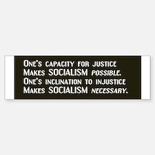 Socialism Bumper Car Car Sticker