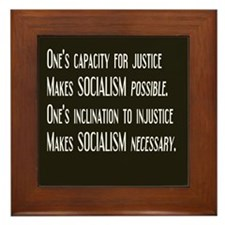 Socialism Framed Tile