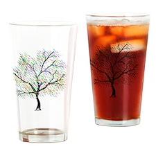 Rainbow Tree Drinking Glass