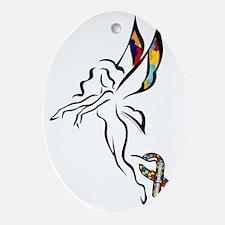 Autism Fairy solo Oval Ornament