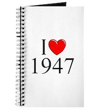 """""""I Love 1947"""" Journal"""