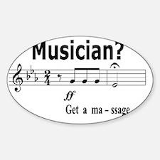 Musician Massage Decal