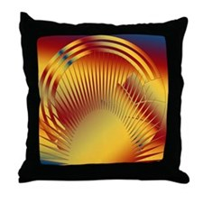 Art Deco Sun #5 Throw Pillow