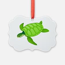 GREEN TURTLE HATCHLING Ornament