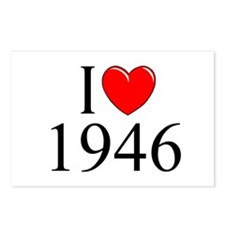 """""""I Love 1946"""" Postcards (Package of 8)"""