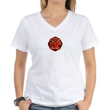 Maltese Cross Red Flame Shirt