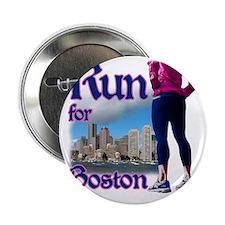 """Run for Boston, MA 2.25"""" Button"""
