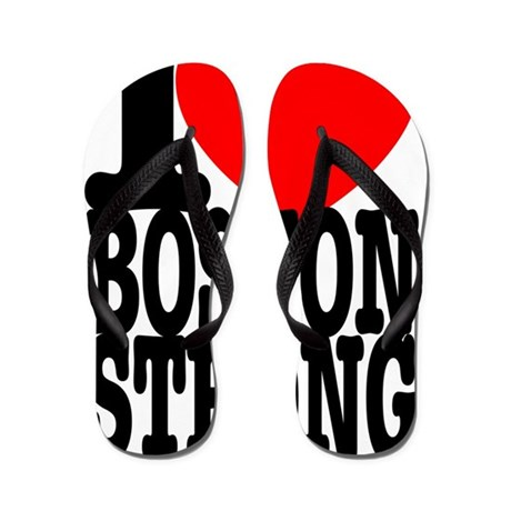 I Heart Boston Strong Flip Flops