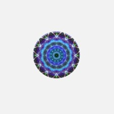 Glowing Star Mandala Mini Button