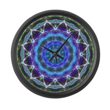Glowing Star Mandala Large Wall Clock